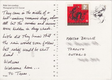 Mystery postcard to Martha.